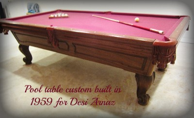 ORIGINAL Custom POOL TABLE 1950 S I LOVE LUCY Lucille Ball SEE VIDEO