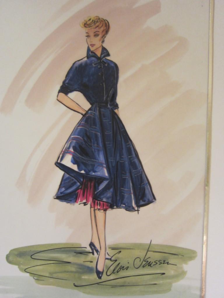 Elois Jenssen signed costume sketch Lucille Ball I LOVE ...